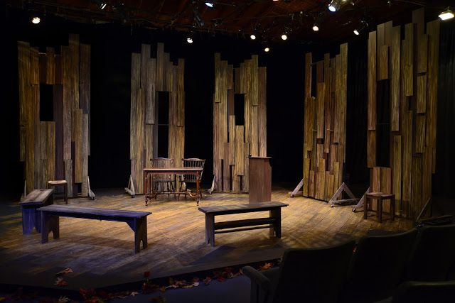 I try to pin ideas that your average high school might actually be able to reproduce, in detail or in concept. Here's one...The Crucible - Lillian Theatre Set Designer - Joel Daavid