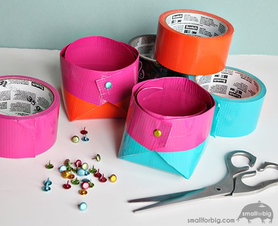 The easiest way to store your craft supplies? Scotch® Duct Tape storage boxes - make your own with this quick DIY!