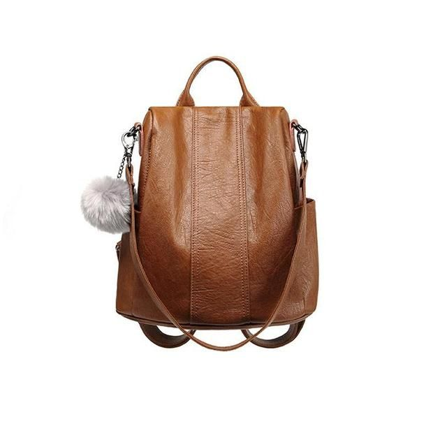 8d16da95bb52 Pierrebuy Womens Backpacks Purse Soft Leather Covertible School Shoulder Bag  Fashion Ladies Travel Bag