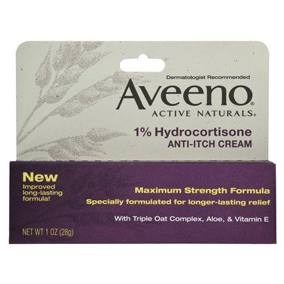 Aveeno 1% Hydrocortisone Anti-Itch Cream. EWG: 2