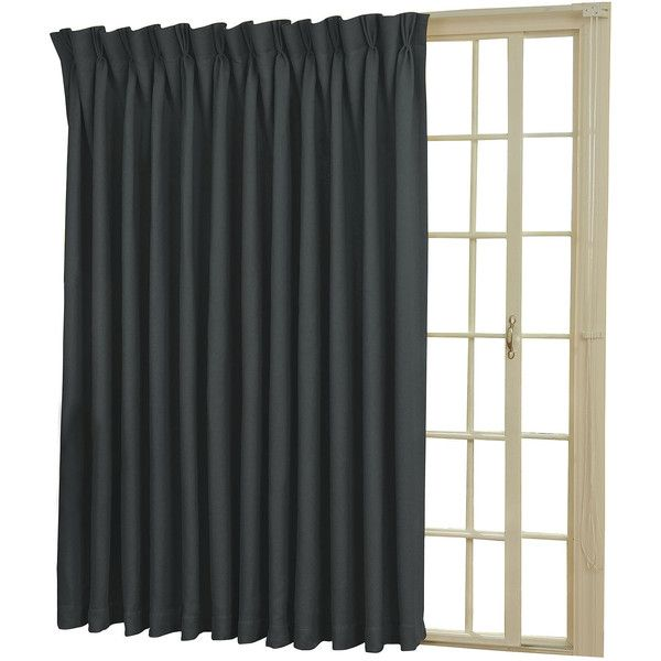 Eclipse Back Tab Pinch Pleat Thermal Blackout Patio Door Curtain Panel 180