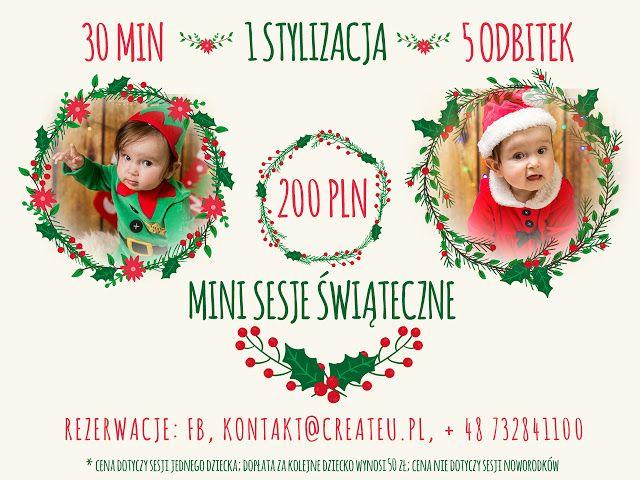 Create U Fotografia : Mini sesje świąteczne Łódź