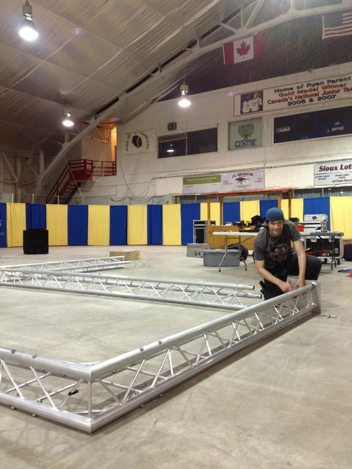 Setting up the light Trussing! www.voltentertainment.com