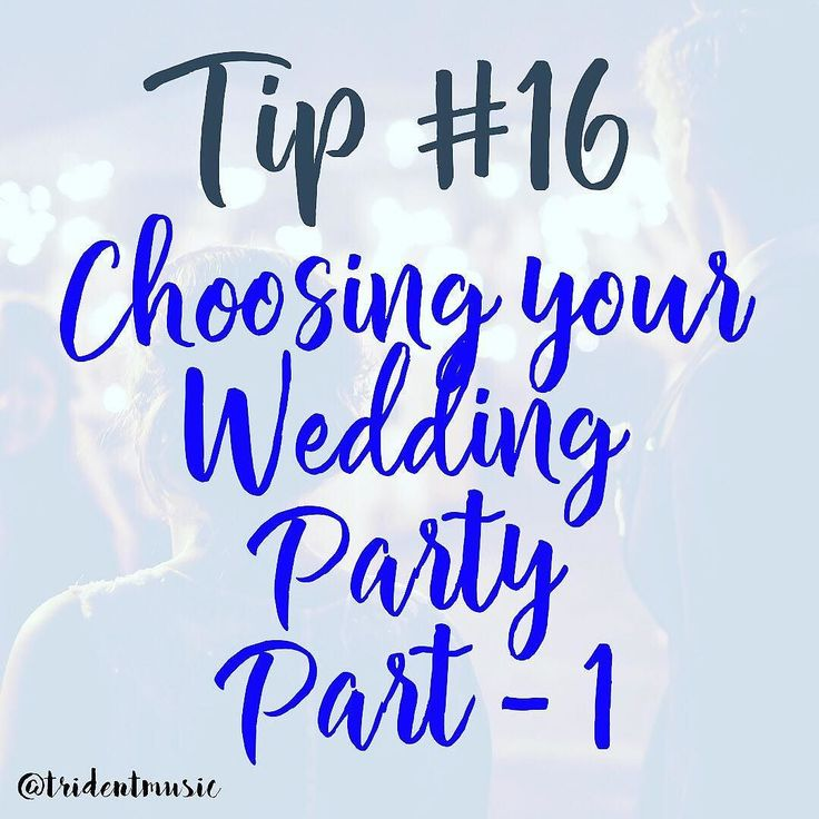 Choosing your wedding party! Part-1  _____ This could easily turn into a really huge posts but Knot.com did a perfect summary of the entire planning of a wedding party members.  The following post can be found at http://ift.tt/2gAzbia will be split into 4 parts.  _____ 1. Think twice before you ask. Once you've asked someone to be in your wedding party you can't go back. So while it may be tempting to ask all of your favorite friends to be in your wedding party the minute you get engaged…