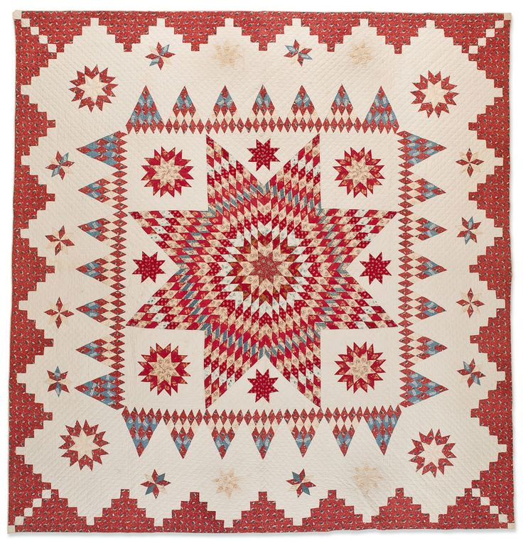 Hannah Huxley -   (American, 1804-1876) -   Star of Bethlehem, 1832 -   Cottons -   Possibly Delaware -   107 x 111 in.