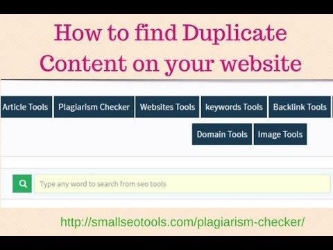 how to find any duplicate content on your website