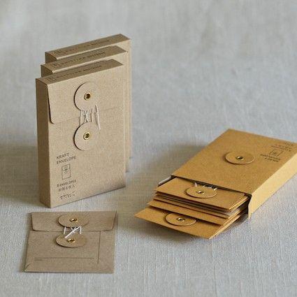 small kraft string & button envelopes = drool