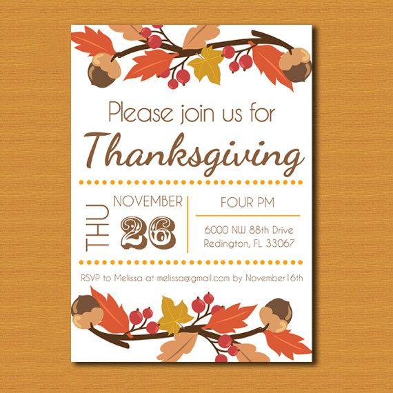 Thanksgiving Invitation Thanksgiving Invite by DestinationInvite