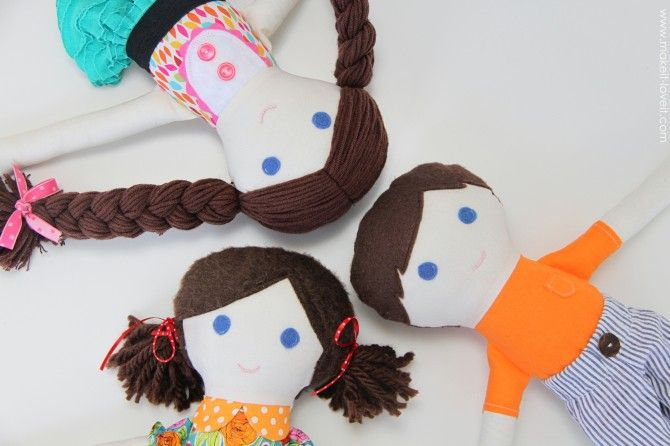 Girl & Boy FABRIC DOLLS (pattern pieces included) | Make It and Love It
