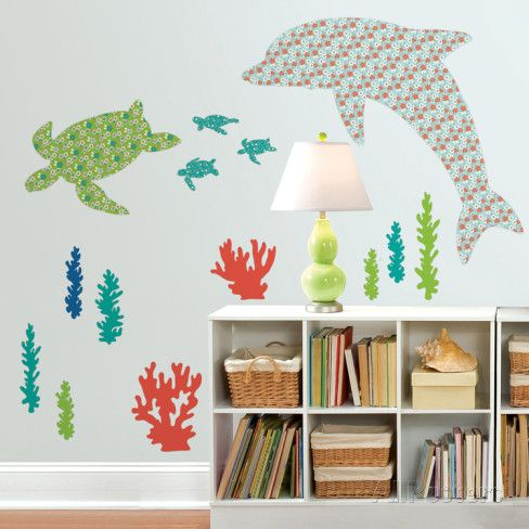 Daphne the Dolphin Wall Art Kit Väggdekal