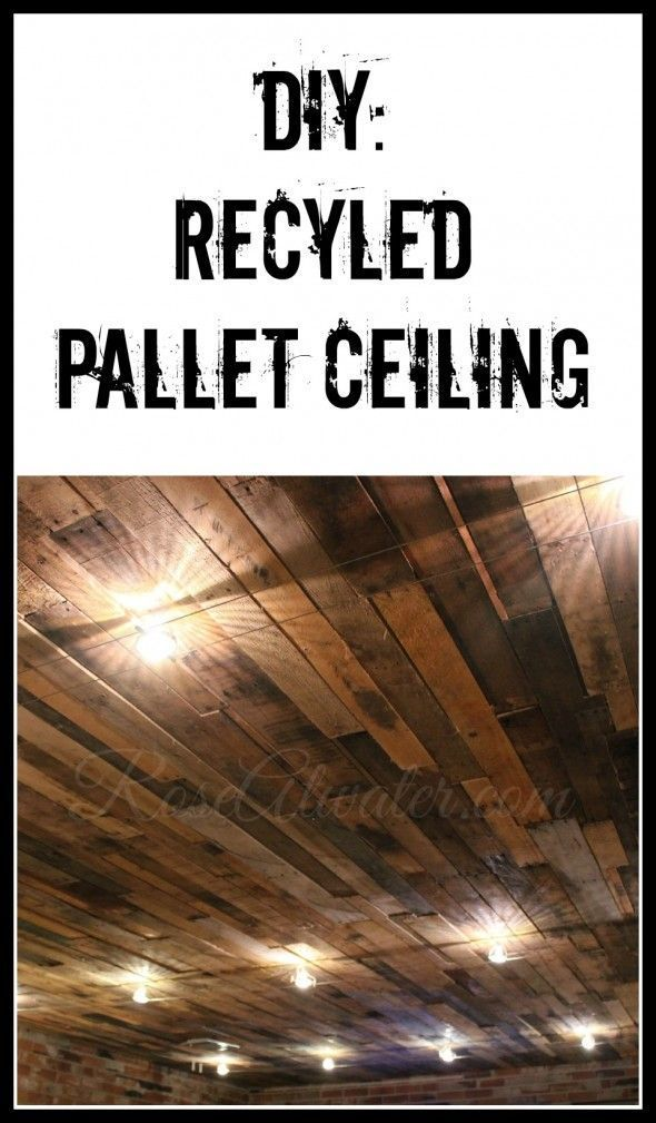 Diy Recycled Pallet Ceiling Pallet Ceiling Basement Ceiling
