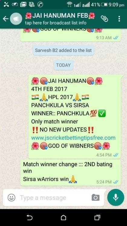 Free Betting Tips - Free Betting Tips - Jai Hanuman #Cricket #Tips Haryana Premier League 2017 Panchkula Kings vs Sirsa Warriors Cricket betting tips pass, All my paid clients all ways rocks 100% profit pakka with only JS cricket betting tips Note: Feb month total 100 live and non live matches Whatsapp 918686856270 Tags: Free cricket tips, Cricket tips free, free cbtf tips, cbtf tips free, cricket betting tips free, free cricket betting tips, ipl cricket tips, rajwada cricket tips, big...