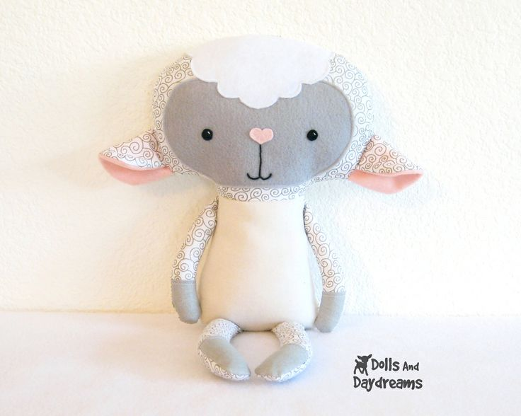 * Dolls And Daydreams - Doll And Softie PDF Sewing Patterns: Lamb Softie PDF Sewing Pattern Stuffed Toy Finished!