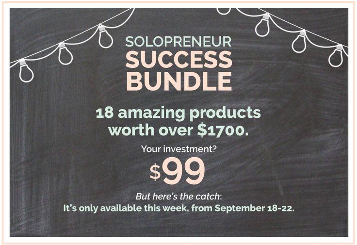 Grab the 2017 Solopreneur Success Bundle. This week only.