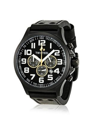 TW Steel Men's TW6R Canteen Black Leather Watch