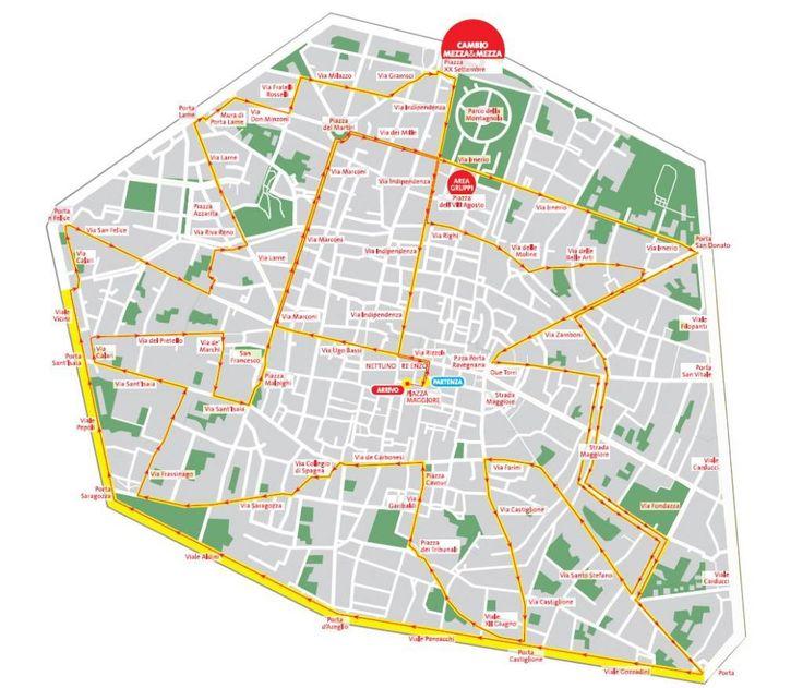 Il percorso della #mezzamaratona #RunTuneUp a Bologna #Correre è bello, correre bene è meglio: preparazioni con programmi di #allenamento personalizzati sulla base di test di soglia anaerobica e #alimentazione adeguata #PersonalTrainer #Bologna #running #podismo #corsa #run #maratona