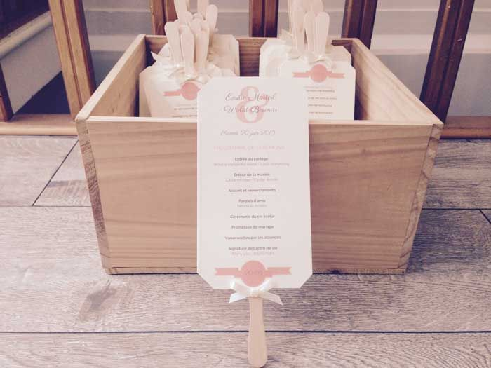 TUTORIEL-DIY : Comment fabriquer un livret de cérémonie - éventail ?