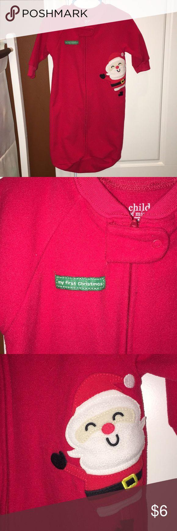 👶🏼My First Christmas Blanket Sleeper 0-9M Child of Mine by Carter's 0-9 months. Super adorable. EUC. Pajamas Sleep Sacks