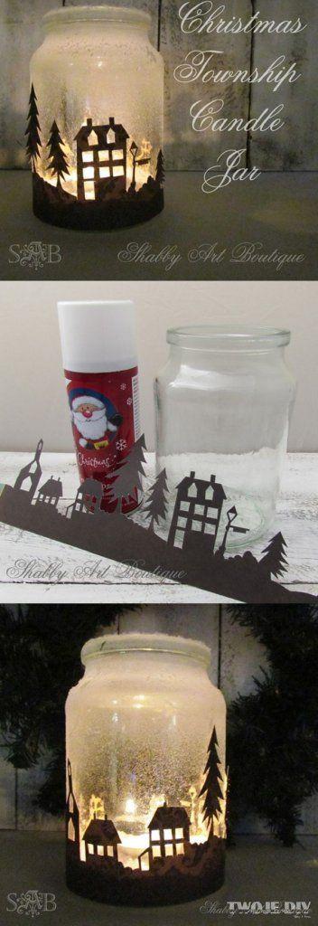 Los frascos o tarros de vidrio no sólo sirven para almacenar alimentos o conservas. Se prestan a una gran variedad de proyectos para elaborar manualidades, además de dar un toque de encanto rústico a las decoraciones de Navidad. Echa un vistazo a estas ideas para reutilizar frascos. Recorta una figura en papel contact (plástico con …
