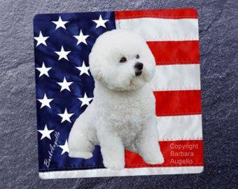 Bichon Frise Patriotic Flag Bichon Frise Art Bichon by Dogimage