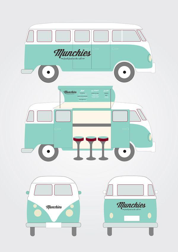 Munchies Food Van by Kristina Nyjordet, via Behance