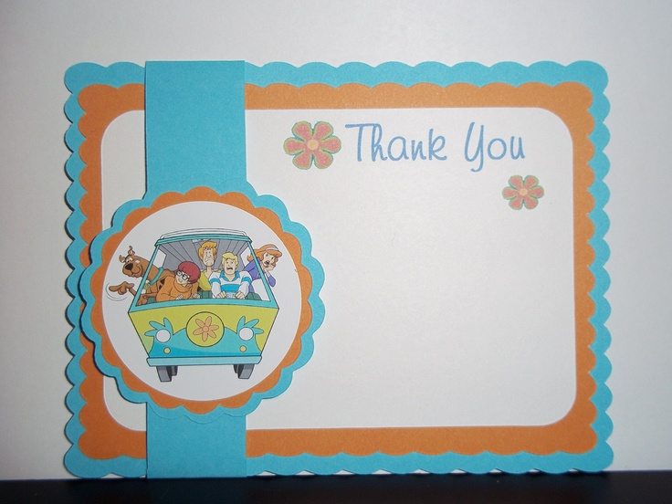 Scooby Doo Mystery Machine Thank You Card Etsy Cards Paper