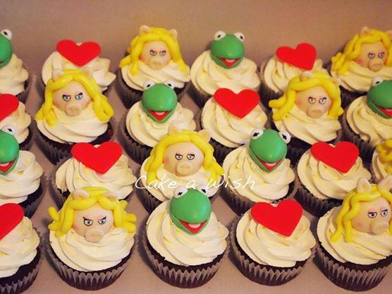 #themuppetshow #cupcakes #kermit #piggy