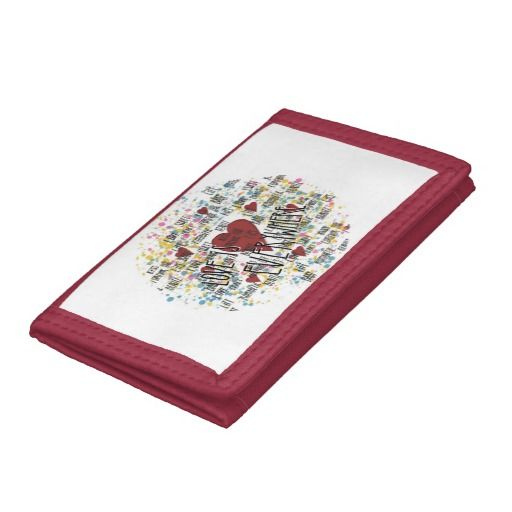 Love is everywhere trifold wallet