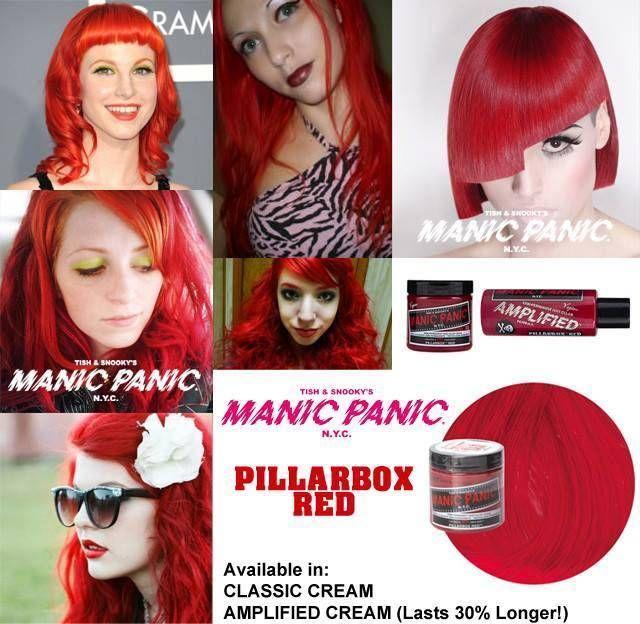 tinte de pelo fantasia color rojo manic panic pillarbox red