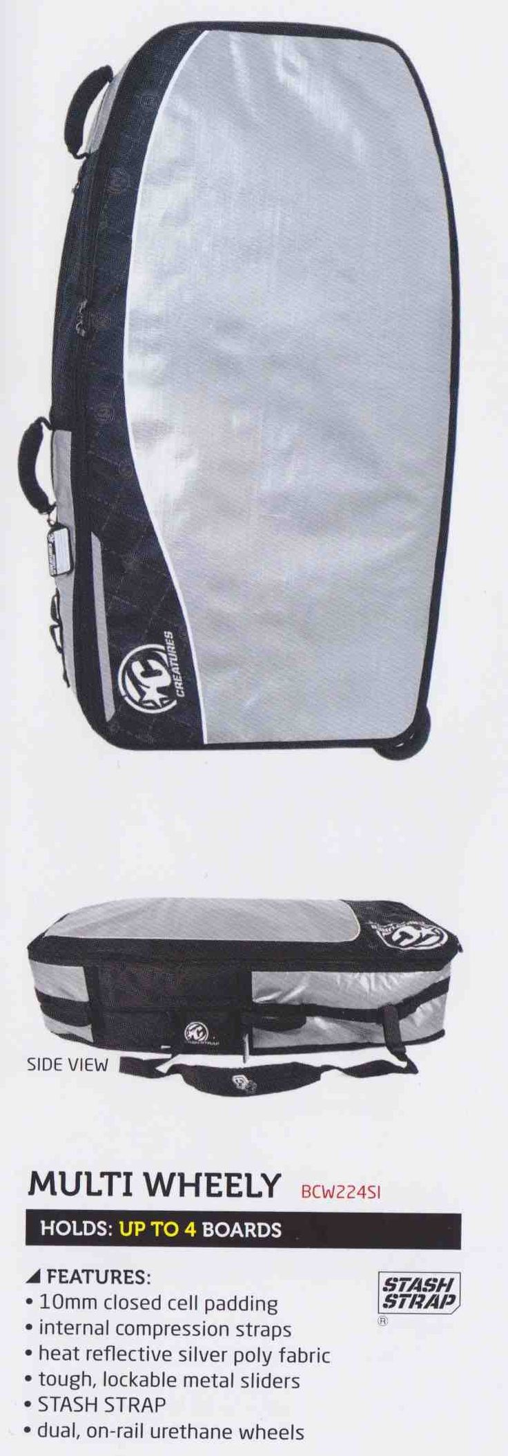 CREATURES OF LEISURE Multi Wheely Boardbag - 2014/15 Range Your Local Bodyboard Shop - Australia & Worldwide