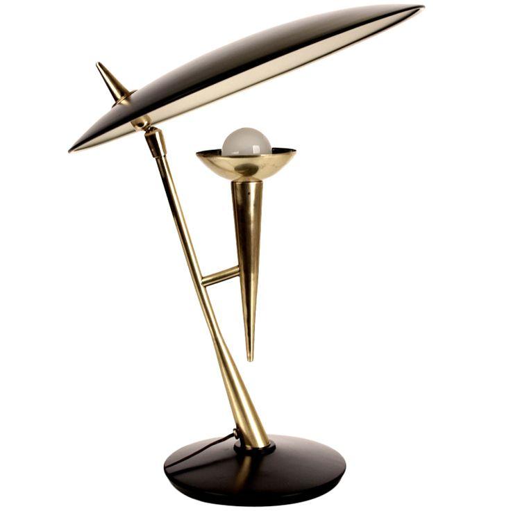 1stdibs | Stilnovo Desk / Table Lamp with Adjustable Reflector Mid Century
