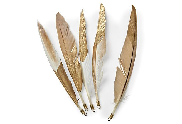 { gold feathers }