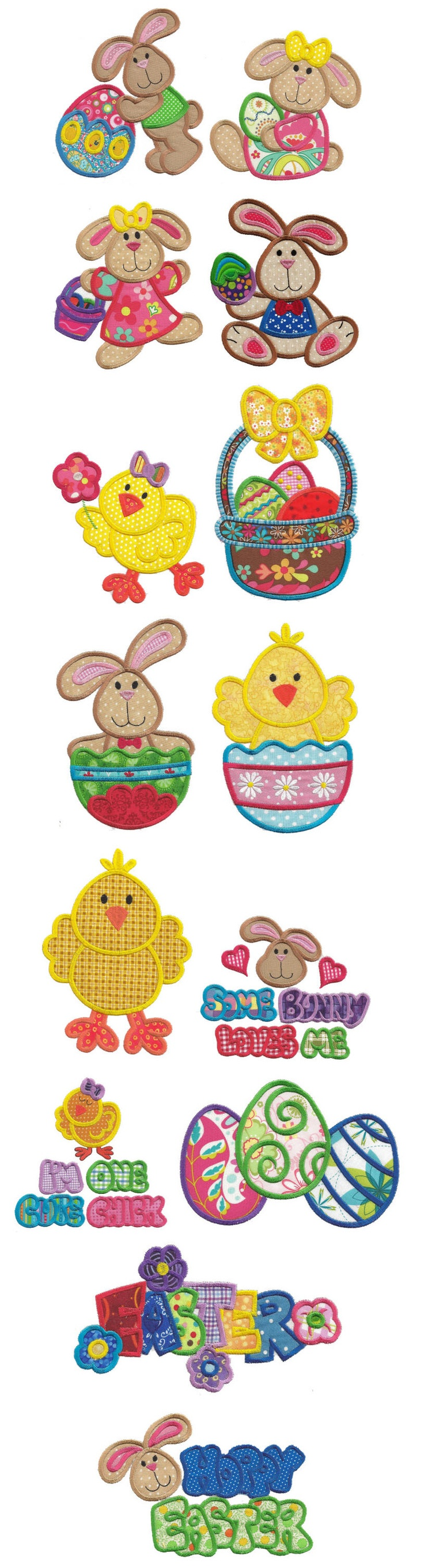 Embroidery | Free Maching Embroidery Designs | Jumbo Bunny Hop Applique