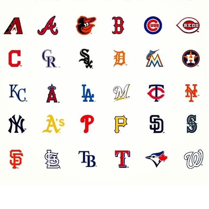 2013 Cap Logos For All 30 Teams Baseball Teams Logo Major League Baseball Teams Mlb Teams