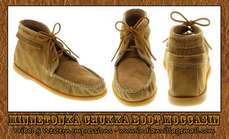 Mens Minnetonka Chukka Boot Moccasin From Tribal And