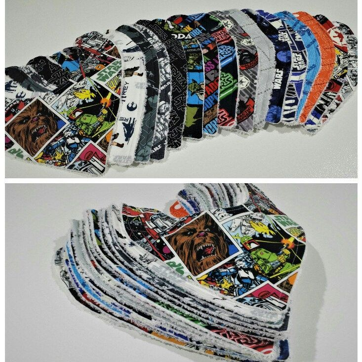 Star Wars Bamboo Dribble Bibs. Perfect for any little ones teething and trying to be trendy. Awesome gift