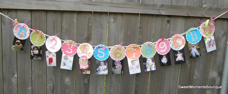 First Year Banner by SweetMomentsBoutique
