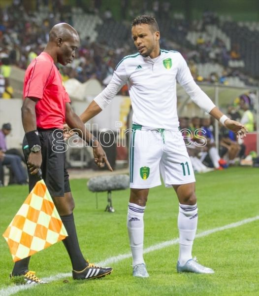 NELSPRUIT, SOUTH AFRICA - SEPTEMBER 02: Moulaye Ahmed Khalil of Mauritania during the 2017 Gabon AFCON Qualifier match between South Africa and Mauritania at Mbombela Stadium on September 02, 2016 in Nelspruit, South Africa. (Photo by Dirk Kotze/Gallo Images)