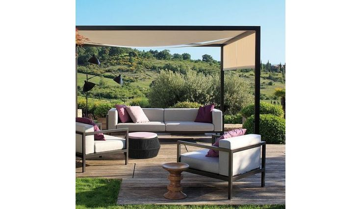 Wundervoll Garten Pavillon Pergola 3x3 m creme stabil Gartenzelt Partyzelt  MT42