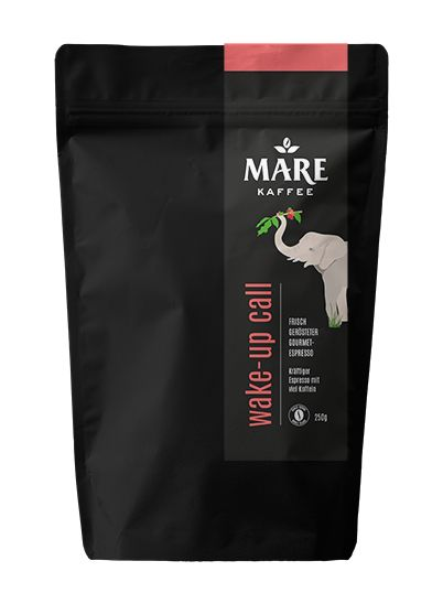 kräftiger Espresso mit viel Koffein frisch gerösteter Gourmet-Espresso 60% Arabica, 40% Robusta ganze Bohne dunkler Röstgrad