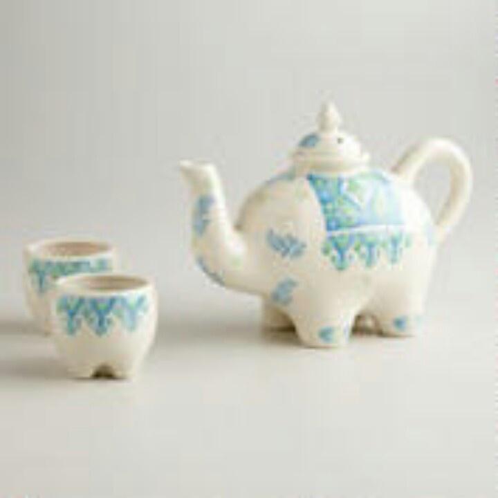elephant tea set tea