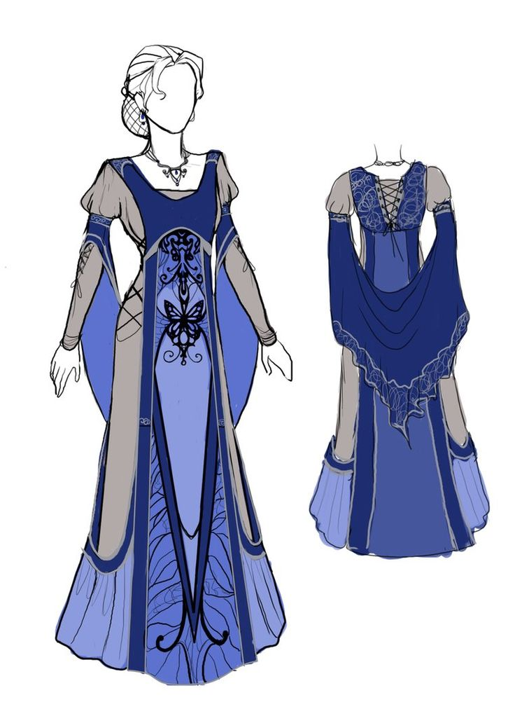 Elven Blue dress<<< Slight altering and it could be a Time Lady's dress