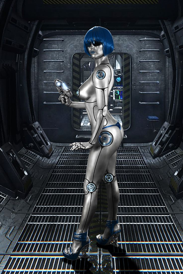 Sexy Robot Girl. Exercise in photography, Photoshop and Cinema 4D compositing.