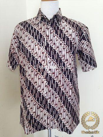 Kemeja Batik Pendek Motif Parang Seling Jogja | #Indonesia Unique  #Batik Tops Shirt #Clothing Men Women http://thebatik.co.id/baju-batik/