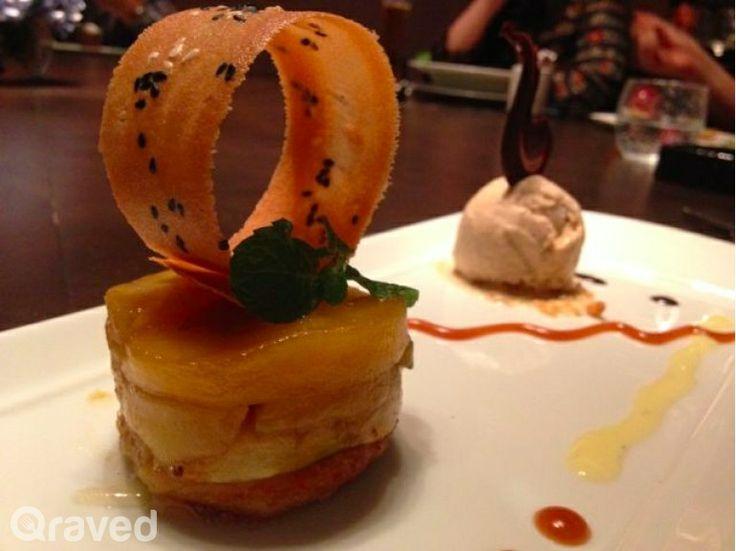 Apple Tartine with Cinnemon Ice Cream at Auroz