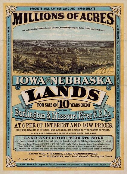 The Homestead Act of 1862 provided cheap farmland, better lives, and hope to American Citizens.  The Act gave 160 acres of land to the head of each family, as long as they agreed to farm the land for 5 years or pay $1.25 per acre.  The Transcontinental Railroad made it easier for settlers to move west across the continent and the Gold Rush, cheap farmland, and a better life gave those settlers reasons for the move.