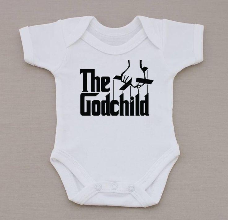 The Godchild Funny Christening Gift ( The God Father ) Baby Bodysuit / Vest