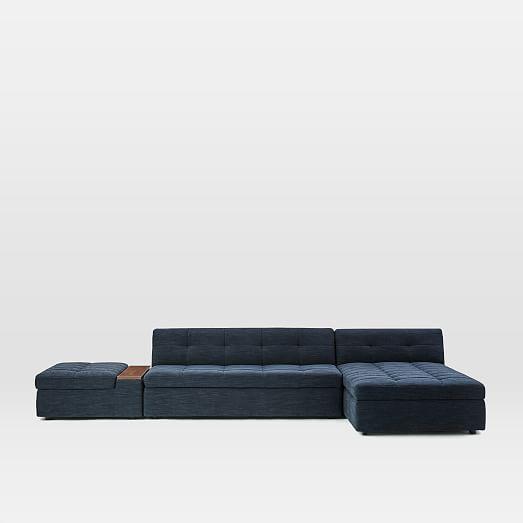 Plateau 3-Piece Storage Chaise Sectional w/ Ottoman #westelm