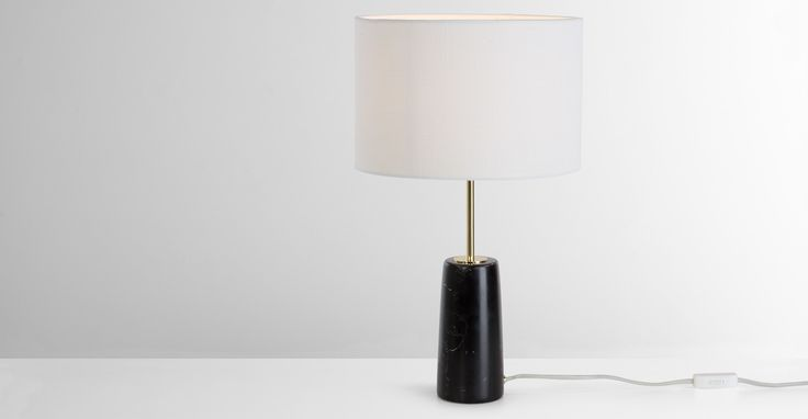 Rita Table Lamp, Brass and Marble