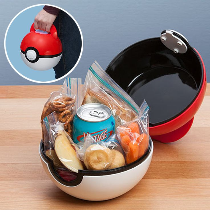 Pokeball Lunch Box - Click here to check it out and become the coolest kid in school! (Favorite List Awesome)